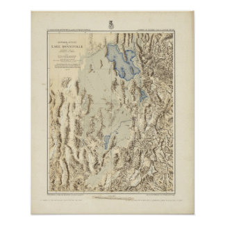 Esquema restaurado del lago Bonneville Póster