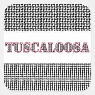 Esquema rojo de Tuscaloosa (por MG Dezigns) Pegatina Cuadrada