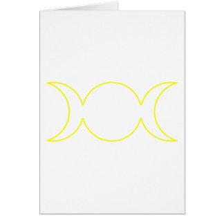 Esquema triple amarillo de la diosa tarjeta de felicitación