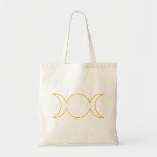 Esquema triple anaranjado de la diosa bolsa de mano