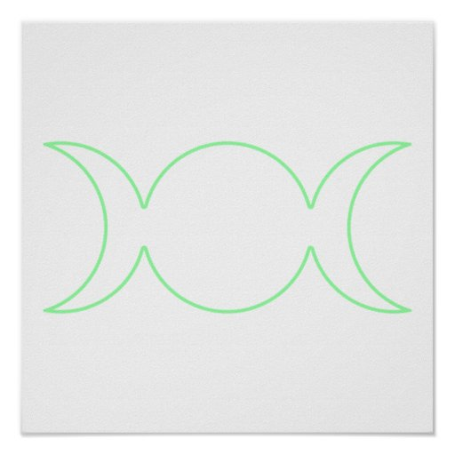 Esquema triple de la diosa de la verde lima posters