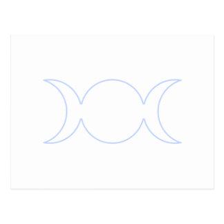 Esquema triple de la diosa de los azules claros postal