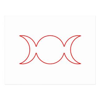 Esquema triple rojo de la diosa postal