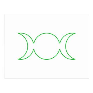 Esquema triple verde de la diosa tarjetas postales