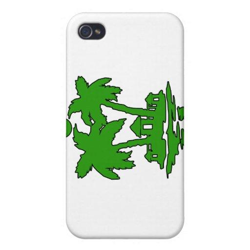 esquema verde invert.png de las casas de isla de l iPhone 4/4S carcasa