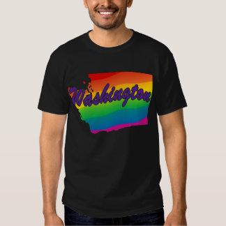 Esquema Washington del estado del arco iris Playera