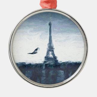 Esquemas de Eifel Adorno Redondo Plateado