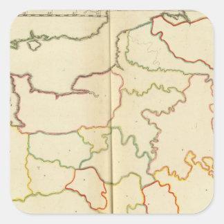 Esquemas de las capitales de Francia Pegatina Cuadrada