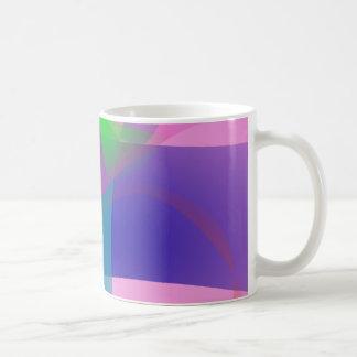 Esquemas netos abstractos rosados taza