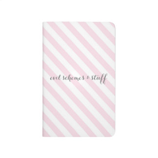 Esquemas rosados del mal de la raya del caramelo cuadernos