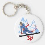 esquí - 2 llaveros
