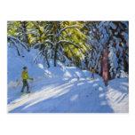 Esquí a través del La Clusaz 2012 de maderas Tarjetas Postales