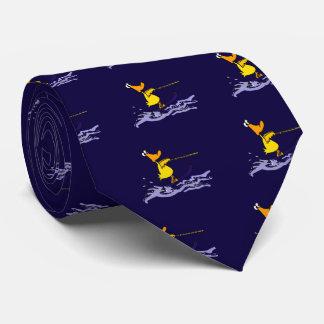 Esquí acuático amarillo divertido del pato corbata personalizada