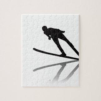 esquí acuático del dibujo animado del esquí de Cor Puzzle
