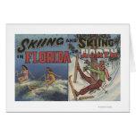 Esquí acuático en la Florida contra la nieve que e Felicitaciones