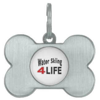 Esquí acuático para la vida placa mascota