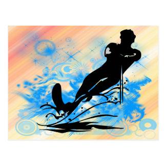 Esquí acuático postal