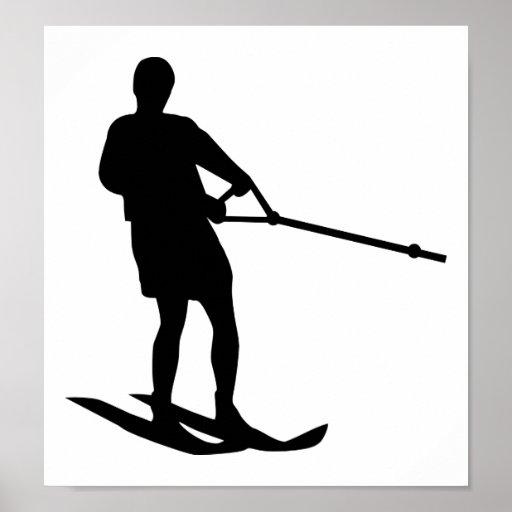 Esquí acuático póster