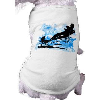 Esquí acuático camisa de perro