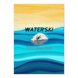 """Esquí acuático SUPERIOR Invitación 5"""" X 7"""""""