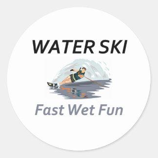 Esquí acuático SUPERIOR Etiqueta Redonda