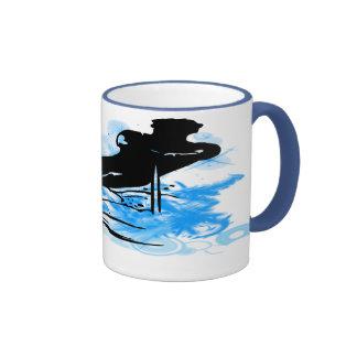 Esquí acuático taza de café