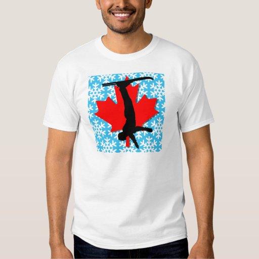 esquí aéreo del copo de nieve de Canadá Camisas