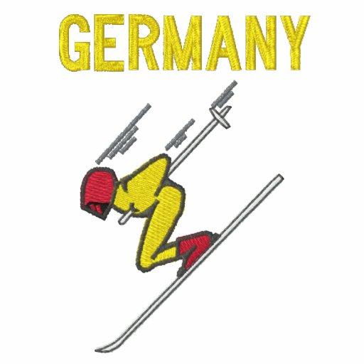 Esquí Alemania - personalizable Sudadera Encapuchada