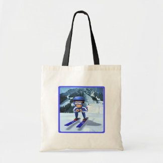 Esquí alpino 2 bolsa lienzo