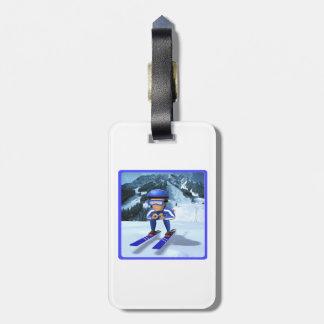 Esquí alpino 2 etiqueta para maleta