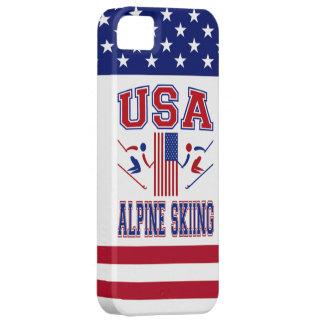 Esquí alpino de los E.E.U.U. iPhone 5 Case-Mate Carcasas
