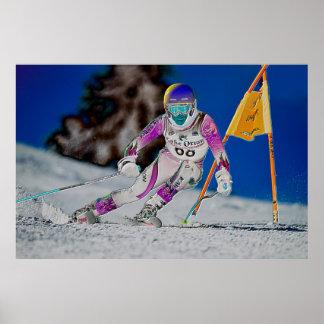 Esquí alpino que compite con el poster D1429027