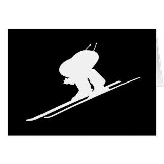 Esquí alpino tarjeta de felicitación