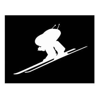 Esquí alpino tarjetas postales