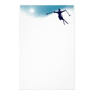 esquí altísimo papelería de diseño