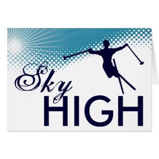 esquí altísimo tarjeta pequeña