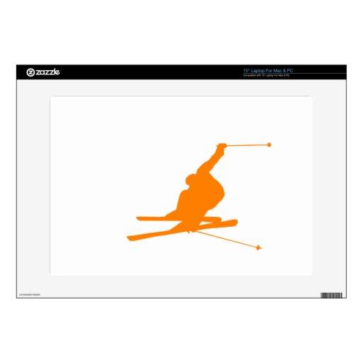 Esquí anaranjado de la nieve skins para 38,1cm portátiles