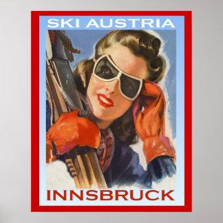 Esquí Austria, Innsbruck de los deportes de invier Poster
