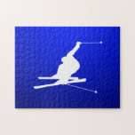 Esquí azul de la nieve puzzle