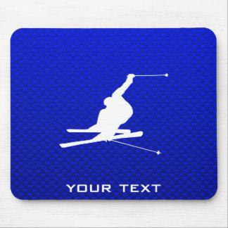 Esquí azul de la nieve tapetes de raton