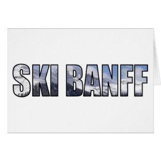 Esquí Banff Tarjeta De Felicitación