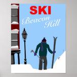 Esquí Beacon Hill Boston Póster
