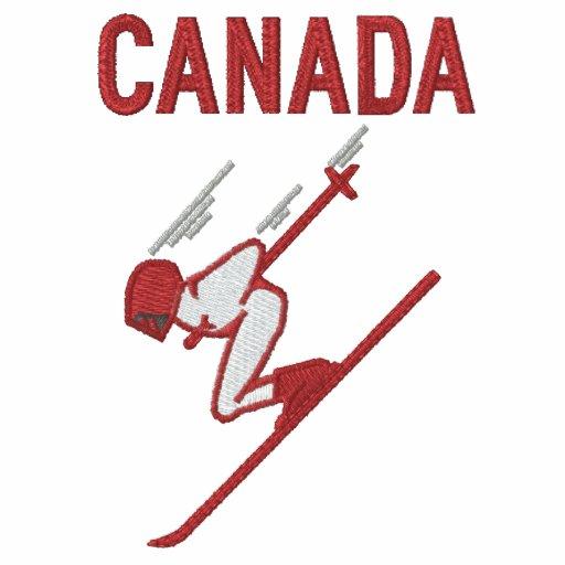 Esquí Canadá - personalizable Sudadera Bordada Con Serigrafia