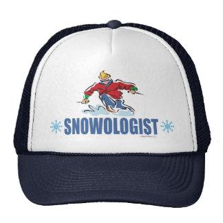 Esquí chistoso de la nieve gorra