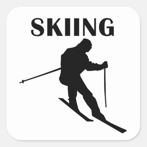 Esquí Colcomanias Cuadradass