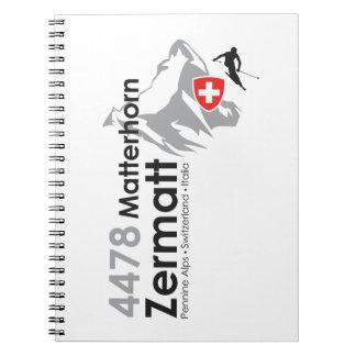 Esquí de Cervino-Zermatt Spiral Notebook