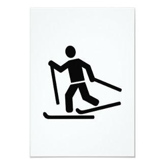 Esquí de fondo invitacion personalizada