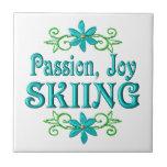 Esquí de la alegría de la pasión azulejo cerámica