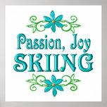 Esquí de la alegría de la pasión poster