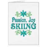 Esquí de la alegría de la pasión tarjetas